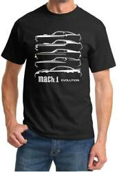 1969-2004 Ford Mach 1 Mustang Evolution Classic Design Tshirt NEW