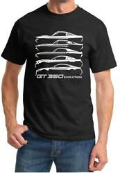 1965-2020 SHELBY GT350 Mustang Evolution Classic Design Tshirt NEW
