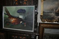 Powerful Pheasant With Shotgun Painting Oil Painting