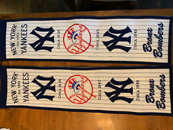 New York Yankees Mlb Embroidered Wool Heritage 32 Banner Flag