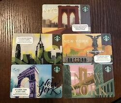 Lot Of 300 - Assorted New York Starbucks Gift Cards As Shown, Ready To Ship.