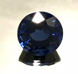 4.05 Ct Natural Blue Sapphireexcellent Round Cut Si2 Clarity 9 Mohs