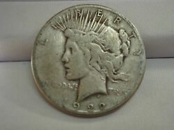 1922 Business Peace One Dollar Silver Coin Mint Mark S