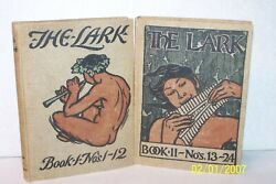 The Lark. Book I And Book Ii, Numbers 1-24 Burgess, Gelett, Rare And Collectible