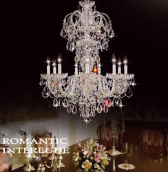 Crystal Chandelier Palace Pendant Lamp Lobby Ceiling Light Fixture Luxury Led