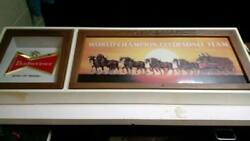 Budweiser Lighted Sign-clydesdales