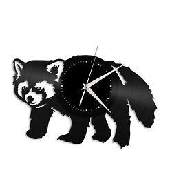 Red Panda Vinyl Wall Clock Unique Gift for Animal Lovers Home Room Decoration