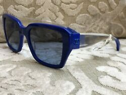 CHANEL 5263 c.1445 s2 Blue amp; Clear Authentic Sunglasses NEW other $399 $200.00