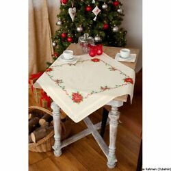 Vervaco Tablecloth Stitch Embroidery Kit Christmas Star Stamped Diy
