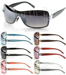 New WB Eyewear Womens Wrap Shield Sunglasses Designer Shades Fashion One Lens  $8.99