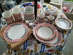 Coca Cola Gibson China Service For 4 Lot Of 22 Items