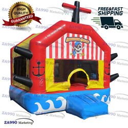 13x13ft Commercial Inflatable Pirate Bounce House Moonwalk With Air Blower