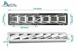 Marine City Stainless Steel 7 Slots Louvered Vent 14-7/8and039 Andtimes 3 Andtimes 1-1/4 2 Pcs