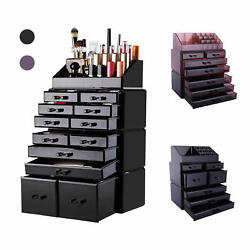 Makeup Cosmetic Plastic Organizer Storage Display Boxes Case Rack with Drawers $29.89