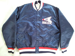 Vintage 70's 80's Made In Usa Felco Chicago White Sox Satin Jacket In Size Xl