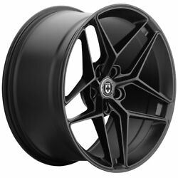 19 Hre Ff11 Black 19x9 Forged Concave Wheels Rims Fits Acura Tsx