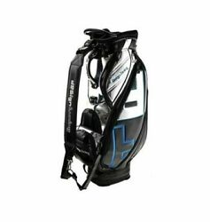 Design Tuning TPU Caddie Golf Club Bag Black-Blue 6Way 9In Sporting Good_AA