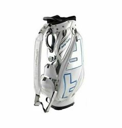 Design Tuning TPU Caddie Golf Club Bag White-Blue 6Way 9In Sporting Good_AA