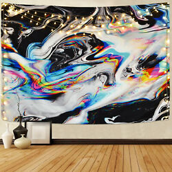 US Hippie Colorful Tapestry Abstract Wall Hanging Psychedelic Tapestry Decor