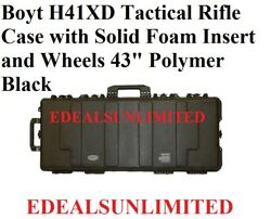 Boyt H41xd Tactical Rifle Case Solid Foam Insert And Wheels 43 Free Shipping