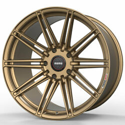 19 Momo Rf-10s Gold 19x9 19x11 Forged Concave Wheels Rims Fits Nissan 370z