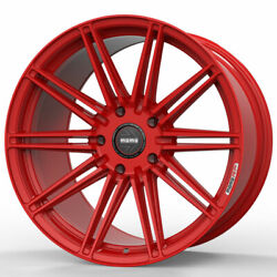 19 Momo Rf-10s Red 19x8.5 19x10 Forged Concave Wheels Rims Fits Ford Mustang Gt