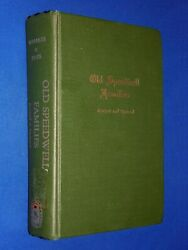 Old Speedwell Families Revised And Updated Hardcover Tennessee Tn History Edwards