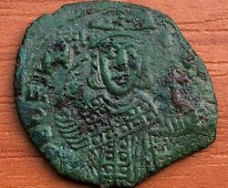 Theophilus 830-842 Ad Ae Follis Constantinople Mint Ancient Byzantine Coin
