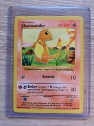 Rare 1st Edition Shadowless Charmander Pokémon Card 46102 Great Condition