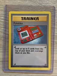 Rare 1st Edition Pokedex Pokémon Card 87102 Excellent Condition.Never Traded