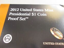 2012-s Us Presidential 1 Proof Set 4 Coin Set  Xb7