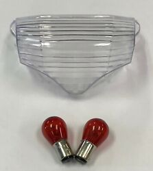 04-09 Fz6 Clear Taillight Tail Light Rear Brake Lens Cover Replacement + Bulbs