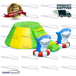 10x10ft Commercial Inflatable Sharks Floating Iceburg Climbing With Air Pump