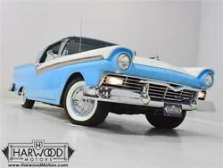 1957 Ford Fairlane Skyliner Retractable -- 1957 Ford Fairlane Skyliner Retractable  82420 Miles Colonial White over Starmis