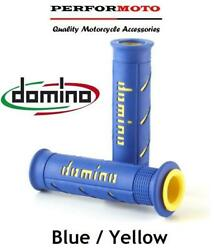 Domino Xm2 Grips Blue / Yellow To Fit Yamaha Hw150 Xenter