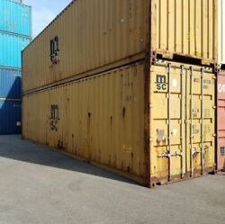 Used 40and039 Dry Van Steel Storage Container Shipping Cargo Conex Seabox Charlotte