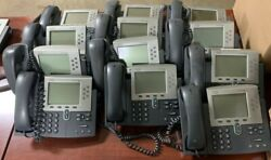 Lot Of 12- Cisco 7961 Unified Ip Phone Cp-7961g W/ Cord Stand And Handset
