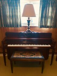Chickering Console Piano, 1943 Made By German Craftsman. High End Furniture