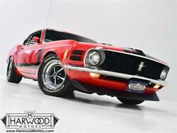 1970 Ford Mustang -- 1970 Ford Mustang Boss 302  77313 Miles Red  302 cubic inch V8 4-speed manual