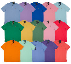 Polo Soft Touch Men Short Sleeve Shirts Blue Purple Pink Green Red