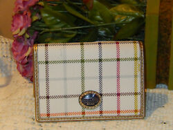 NWT COACH PEYTON TATTERSALL CREDITBUSINESS CARDID CASE MULTI PLAID F62036