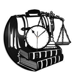 Lawyer Vinyl Wall Clock Record Unique Gift for Friends Home Room Decoration