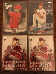 Lot 4 2018 Topps Shohei Ohtani Rookie Legends In The Making 2 Salute S-64
