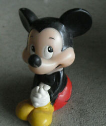 Vintage Walt Disney Mickey Mouse Squeeky Toy 4 Tall