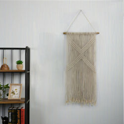 90CM Macrame Wall Hanging Art Woven Tapestry Boho Home Apartment Dorm Room Decor