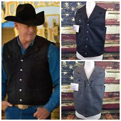 Wyoming Traders Mens Buckaroo Wool Button Up Ranch Wear Cowboy Vest