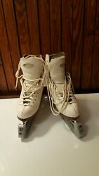 Riedell Model 355b With Professional Freestyle Blades Size4 1/2 Women's White