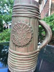 HOSTER BREWING COLUMBUS OH PETERS AND REED MOSS AZTEC POTTERY MUG SIGNED FERRELL