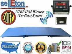 Ntep Floor Scale 48 X 48 4and039 X 4and039 Wireless Cordless 2 Ramps 2000 Lbs X .5 Lb