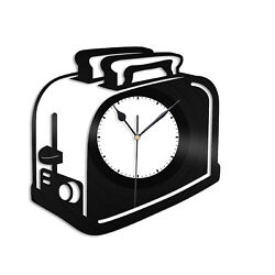 Toaster Vinyl Wall Clock Decor Record Unique Gift Home Kids Room Decoration